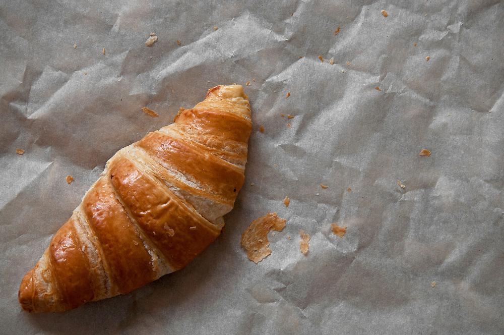 A single croissant.
