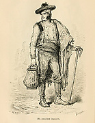 Spanish Peasant engraving on wood From The human race by Figuier, Louis, (1819-1894) Publication in 1872 Publisher: New York, Appleton