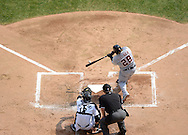 CHICAGO - SEPTEMBER 17:  Prince Fielder #28 of the Detroit Tigers hits a double against the Chicago White Sox on September 17, 2012 at U.S. Cellular Field in Chicago, Illinois.  The White Sox defeated the Tigers 5-4.  ((Photo by Ron Vesely)  Subject:  Prince Fielder