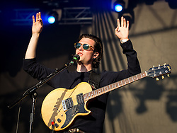 © Licensed to London News Pictures . 08/06/2013 . Heaton Park , Manchester , UK . Orlando Weeks of The Maccabees on the main stage . Day 1 of the Parklife music festival in Manchester on Saturday 8th June 2013 . Photo credit : Joel Goodman/LNP