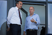 Oldham Athletic Chairman, Simon Corney before the EFL Sky Bet League 1 match between Oldham Athletic and Northampton Town at Boundary Park, Oldham, England on 16 August 2016. Photo by Simon Brady.