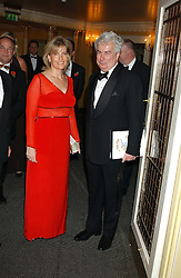 HRH The COUNTESS OF WESSEX and KEN FOLLETT at the Dyslexia Awards Dinner attended by HRH The Countess of Wessex held at The Dorchester Hotel, Park Lane, London on 9th November 2005.<br />