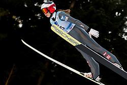 February 7, 2019 - Ljubno, Savinjska, Slovenia - Lisa Eder of Austria competes on qualification day of the FIS Ski Jumping World Cup Ladies Ljubno on February 7, 2019 in Ljubno, Slovenia. (Credit Image: © Rok Rakun/Pacific Press via ZUMA Wire)