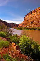The Colorado River along Utah State Route 128 (Upper Colorado River Scenic Byway), near Moab, Utah, USA
