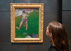 Painting Children Wrestling by Paul Gauguin