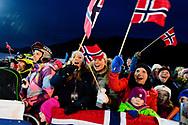 Fans of Johanne Killi during Women's Ski Slopestyle Finals during 2017 X Games Norway at Hafjell Alpinsenter in Øyer, Norway. ©Brett Wilhelm/ESPN