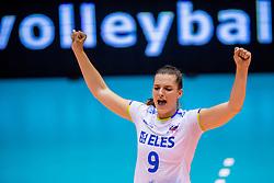 23-08-2017 NED: World Qualifications Greece - Slovenia, Rotterdam<br /> SloveniÎ wint met 3-0 / Iza Mlakar #9 of Slovenia<br /> Photo by Ronald Hoogendoorn / Sportida