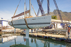 15 November 2016 - Cape2Rio entrant, First 40, relaunches after having her underwater surfaces prepared for the 2017 Race.<br /> <br /> Boat Name: First 40<br /> Boat Type: Beneteau First 40CR<br /> Boat Owner: Peter Howarth/Dave Arnott<br /> Builder: Beneteau<br /> Yacht Club: RCYC<br /> Year Built: 2014<br /> Sail Number: SA 4425 LOA: 12.24<br /> Country: South Africa