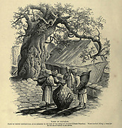 Engraving on Wood of the Tomb of Eleazar under an ancient Terebinth tree from Picturesque Palestine, Sinai and Egypt by Wilson, Charles William, Sir, 1836-1905; Lane-Poole, Stanley, 1854-1931 Volume 2. Published in New York by D. Appleton in 1881-1884