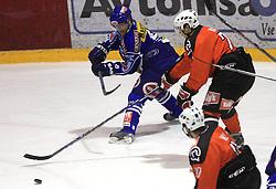 Roland Kaspitz (8) and Ales Kranjc (28) at ice hockey match Acroni Jesencie vs EC Pasut VSV in EBEL League,  on November 23, 2008 in Arena Podmezaklja, Jesenice, Slovenia. (Photo by Vid Ponikvar / Sportida)
