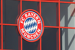 06.03.2011, Trainingsgelaende, Muenchen, GER, 1.FBL, Training FC Bayern Muenchen , im Bild FC Bayern Logo  , EXPA Pictures © 2011, PhotoCredit: EXPA/ nph/  Straubmeier       ****** out of GER / SWE / CRO  / BEL ******