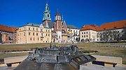 Makieta Wawelu umieszczona na wzgórzu wawelskim, Kraków, Polska<br /> Model of the Wawel Castle located on the Wawel Hill, Cracow, Poland