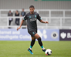 BOREHAMWOOD, ENGLAND - Saturday, September 28, 2019: Liverpool's Rhian Brewster during the Under-23 FA Premier League 2 Division 1 match between Arsenal FC and Liverpool FC at Meadow Park. (Pic by Kunjan Malde/Propaganda)