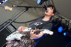 Bryde performs on stage on day 1 of Standon Calling Festival on July 27, 2018 in Standon, England. Picture date: Friday 27 July, 2018. Photo credit: Katja Ogrin/ EMPICS Entertainment.