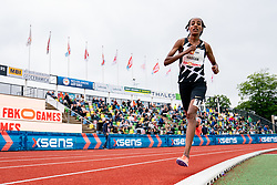 Sifan Hassan of Netherlands in action on the 10000 meter and world record during FBK Games 2021 on 06 june 2021 in Hengelo.