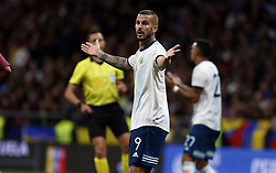 March 22, 2019 - Madrid, Madrid, Spain - Argentina's Marco Benedetto seen reacting during the International Friendly match between Argentina and Venezuela at the wanda metropolitano stadium in Madrid. (Credit Image: © Manu Reino/SOPA Images via ZUMA Wire)