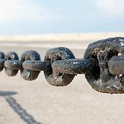 Chain barrier at beach