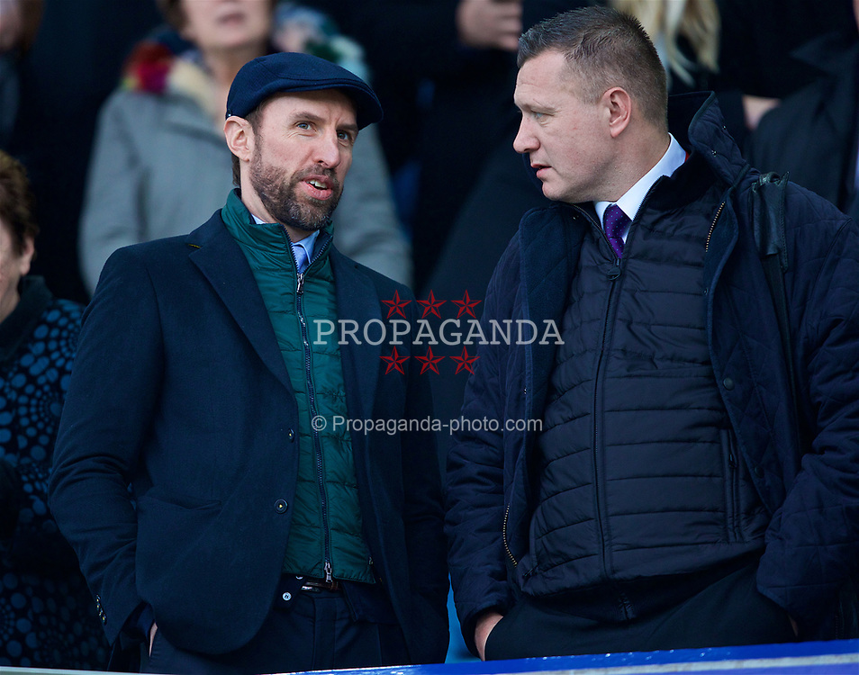 LIVERPOOL, ENGLAND - Saturday, April 7, 2018: England manager Gareth Southgate before the FA Premier League match between Everton and Liverpool, the 231st Merseyside Derby, at Goodison Park. (Pic by Jason Roberts/Propaganda)