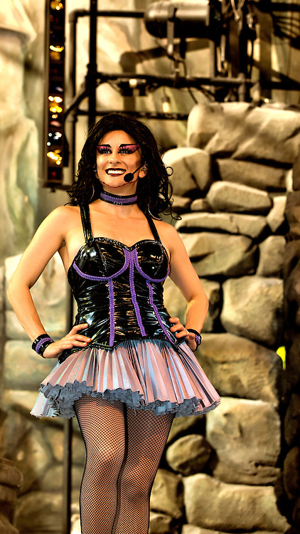 One of the dancers and singers just enjoying herself during the Beetlejuice Concert at Universal Studios in Orlando, Florida.