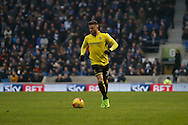 Burton Albion midfielder Michael Kightly (28) during the EFL Sky Bet Championship match between Brighton and Hove Albion and Burton Albion at the American Express Community Stadium, Brighton and Hove, England on 11 February 2017. Photo by Richard Holmes.