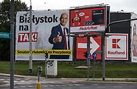 Zdjecie ilustracyjne. Plakaty wyborcze w Bialymstoku przed wyborami samorzadowym 2018 N/z plakat Tadeusza Arlukowicza kandydata na prezydenta Bialegostoku z poparciem Kukiz '15 fot Michal Kosc / AGENCJA WSCHOD