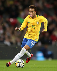 Brazil's Neymar during the Bobby Moore Fund International match at Wembley Stadium, London. PRESS ASSOCIATION Photo. Picture date: Tuesday November 14, 2017