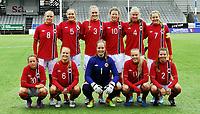Fotball<br /> 07.05.22014<br /> WU19 Friendly / Privatlandskamp J19<br /> Norge v Sverige 1:0<br /> Norway v Sweden 1:0<br /> Foto: Morten Olsen, Digitalsport<br /> <br /> Lagbilde Norge<br /> Back row L-R: Lisa Naalsund (8) - Andrine Tomter (5) - Marit Clausen (3) - Synne Skinnes Hansen (10) - Ane Sund Walsøe (4) - Vilde Bøe Risa (7)<br /> Front row L-R: Johanne Fridlund (20) - Amalie Vevle Eikeland (6) - Aurora Watten Mikalsen (1) - Synne Sofie Kinden Jensen (11) - Cecilie Redisch Kvamme (2)