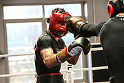 Boxen: 1. Bundesliga, Hamburg Giants, Hamburg, 13.02.2017<br /> Pressetraining zur Kooperation mit dem Hamburger Profi-Boxstall EC Boxing:<br /> Igor Mikhalkin (EC Boxing)<br /> © Torsten Helmke