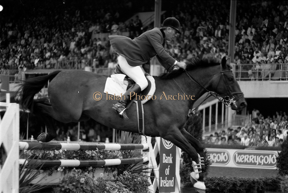 07/08/1987<br /> 08/07/1987<br /> 07 August 1987<br /> Bank of Irelands Nations Cup for the Aga Khan tophy competition.