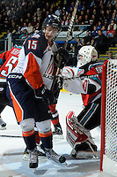 KELOWNA, CANADA, OCTOBER 29: Tim Bozon #15 of the Kamloops Blazers skates on the ice as the  Kamloops Blazers visit the Kelowna Rockets  on October 29, 2011 at Prospera Place in Kelowna, British Columbia, Canada (Photo by Marissa Baecker/Shoot the Breeze) *** Local Caption *** Tim Bozon;
