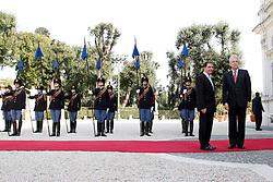 20.03.2012, Villa Pamphilj, Rom, ITA, Treffen der Praesidenten von Italien und Malta, im Bild Mario Monti e George Abela // during a sMeeting beetween Italian Premier and President of Republic of Malta at Villa Pamphilj, Rome, Italy on 2012/03/20. EXPA Pictures © 2012, PhotoCredit: EXPA/ Insidefoto/ Samantha Zucchi ..***** ATTENTION - for AUT, SLO, CRO, SRB, SUI and SWE only *****