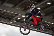 #2 (ANDRE Sylvain) FRA at Round 2 of the 2018 UCI BMX Superscross World Cup in Saint-Quentin-En-Yvelines, France.