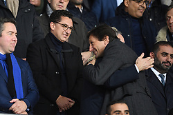 Maxime Saada Chairman of the Canal + and director of PSG Leonardo Araujo attend the UEFA Champions League match between Paris Saint Germain vs Club Brugge at the Parc des Princes on November 6, 2019 in Paris France..<br /> Photo by David Niviere/ABACAPRESS.COM