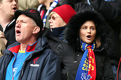 Crystal Palace fans before the FA Cup quarter final match at Vicarage Road, Watford.
