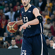 Anadolu Efes's Ermal KURTOGLU during their BEKO Basketball League derby match Galatasaray between Anadolu Efes at the Abdi Ipekci Arena in Istanbul at Turkey on Sunday, November 13 2011. Photo by TURKPIX