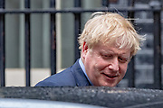 Prime Minister Boris Johnson leaves Ten Downing Street towards Parliament in London to attend his weekly session of PMQs on Wednesday, July 8, 2020. (VXP Photo/Vudi Xhymshiti)