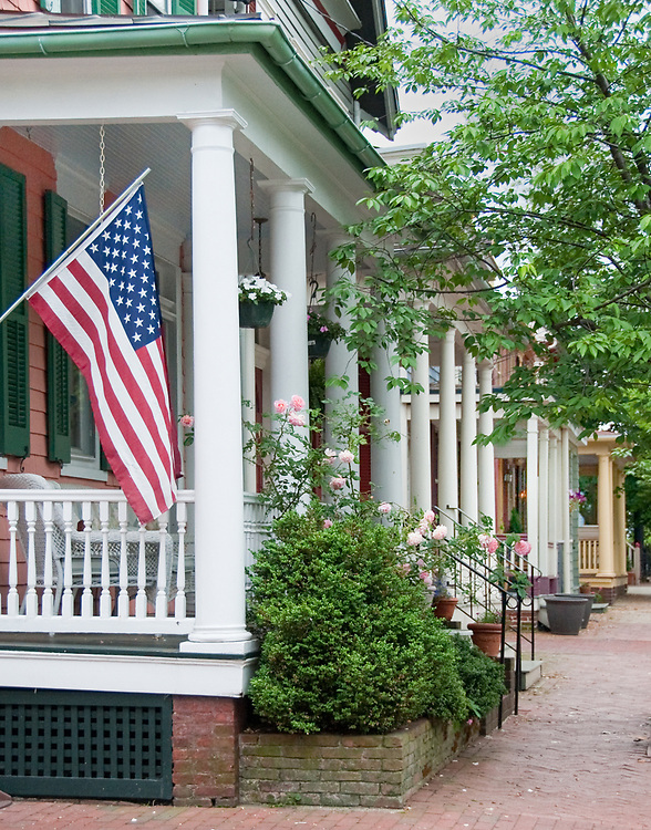 View of Annapolis, Maryland historic street