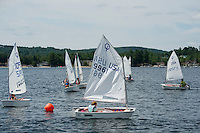 Lake Winnipesaukee Sailing Association's annual youth regatta from WYC Thursday, July 26, 2013.  Karen Bobotas/for the Laconia Daily Sun