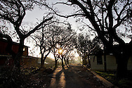 The 9th Ward of New Orleans in the morning light. .It has been six months since Hurricane Katrina and very little has changed. Most of the homes and businesses are empty of it's residents, and there are no working utilities. It is a modern ghost town.