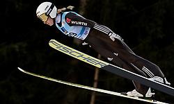February 7, 2019 - Ljubno, Savinjska, Slovenia - Svenja Wuerth of Germany competes on qualification day of the FIS Ski Jumping World Cup Ladies Ljubno on February 7, 2019 in Ljubno, Slovenia. (Credit Image: © Rok Rakun/Pacific Press via ZUMA Wire)