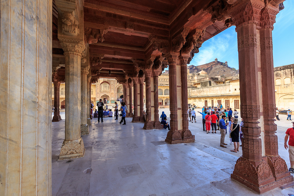 Diwan-i-Aam  or the Public Audience Hall in Amer Fort in Jaipur, India.