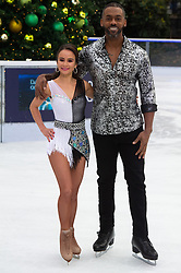 © Licensed to London News Pictures. 18/12/2018. London, UK. Carlotta Edwards and Richard Blackwood attend a photocall for the launch of ITV's Dancing On Ice new series. Photo credit: Ray Tang/LNP