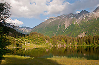Serenity and beauty at the lake at Golzern in the Alps, Canton Uri, Switzerland.