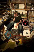 Gilles Peterson Radio DJ at home 2004
