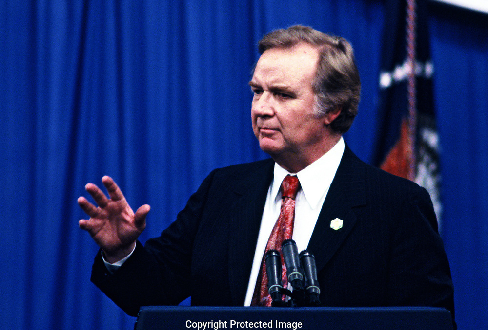 John White, chairman of the Democratic Party in 1978<br />Photo by Dennis Brack