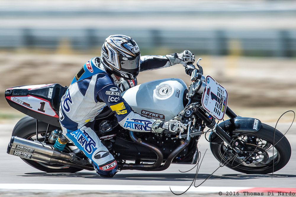 August 4, 2013 - Tooele, UT - Michael Barnes competes in Harley-Davidson XR1200 Race 1 at Miller Motorsports Park. Barnes finished in third place in the race.