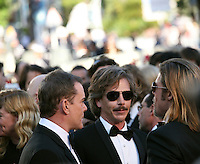 Ray Liotta, Ben Mendelsohn and Brad Pitt at the Killing Them Softly gala screening at the 65th Cannes Film Festival France. Tuesday 22nd May 2012 in Cannes Film Festival, France.