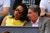 Spanish tennis legend Manolo Santana with his wife during Madrid Open Tennis 2017 match. May 8, 2017.(ALTERPHOTOS/Acero)