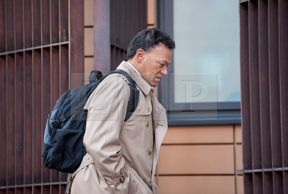 """© Licensed to London News Pictures. 11/02/2016. Bristol, UK.  Bristol Magistrates Court. Renowned knee surgeon David Johnson is accused of biting secretary. David Johnson, 57, who has treated Premier League players, international rugby stars and Wimbledon champions, was accused of common assault in September last year. Bristol Magistrates' Court heard the private orthopaedic surgeon bit Krysha James, his secretary of five years, on her upper left arm, leaving a bruise. He claims the encounter was a """"peck or an affectionate kiss"""" as they sat next to each other in their office. He denies a charge of common assault. Photo credit: Simon Chapman/LNP"""