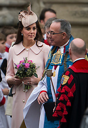 © London News Pictures. 09/03/2015.  Prince William and Catherine, Duchess of Cambridge attends the annual Commonwealth Day Observance at Westminster Abbey, London. The Observance is Britain's largest annual inter-faith gathering, held on the second Monday in March and organised with the Royal Commonwealth Society.  Photo credit: Ben Cawthra/LNP